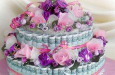 Как сделать денежный торт своими руками в домашних условиях на свадьбу, день рождения и юбилей