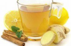 Приготовление чая с имбирем