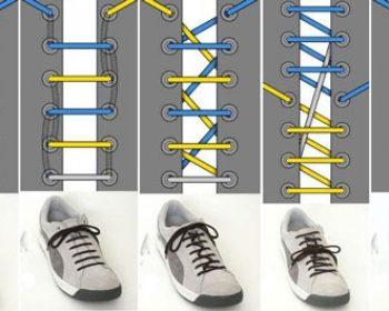 Модные способы шнуровки кроссовок и кед